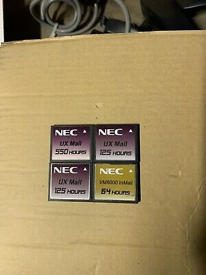 NEC 550 Hour UX Mail Compact Flash Mixed Lot Of 4