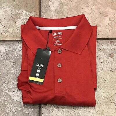 NWT Adidas Climalite Golf Polo Sport Red Shirt Men's Size 2XL. MSRP $50