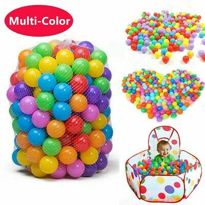 400X Plastic Pit Balls For Children Ball Pits Kids Multi Coloured Toys Play Pool