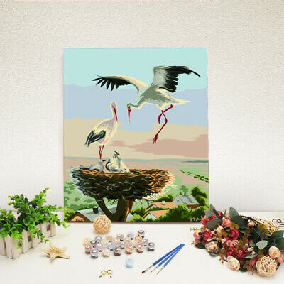 DIY Digital Scenery Animal Oil Painting By Number Kit Canvas Paint Home HLB