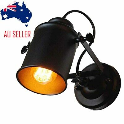 Industrial Black Spotlight Wall Sconce Adjustable Lamp LED Bulb Kitchen Bar E27