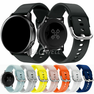 Universal 20mm Sport Silicone Watch Wrist Band Replacement Strap Quick Release