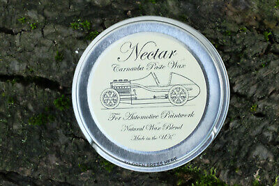 Carnauba Paste Wax For Cars, Traditional Style Natural Wax Blend 50ml