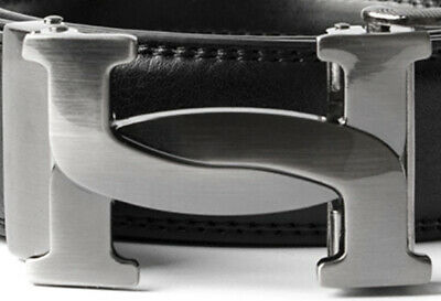 Mens Designer Belt Buckles For Men Women Automatic Ratchet Letter H Curve Ladies