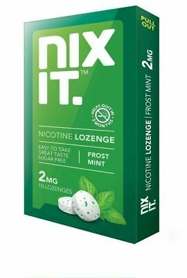 NIXIT NICOTINE 2 MG LOZENGE - FROST MINT (PACK OF 7) 10 Pieces Per Pack (10*7)