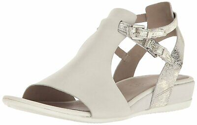 Ecco White Shadow White Receptor Womens Leather Comfort Sandals Size EU 41 (Approx. US 11) Regular (M, B)