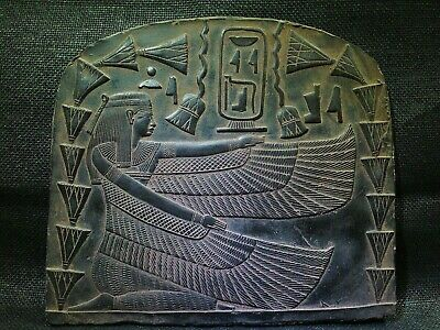 EGYPTIAN ANTIQUES ANTIQUITY Winged Queen Isis Stela Stele Stelae 2505-2365 BC