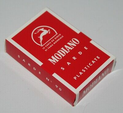 Modiano - Sarde No. 90 - Italian Playing Cards - Sealed