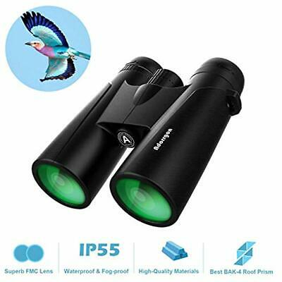 Binoculars 12x42 Roof Prism For Adults - Professional HD Birds Watching Hunting