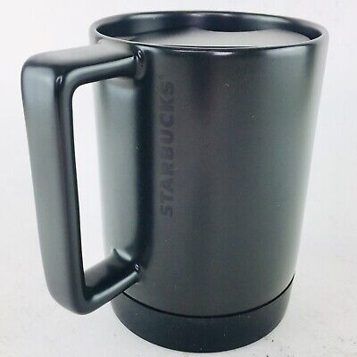 Travel 14 Skid Mug Starbucks Base Non Oz Ceramic Commuter Cup Desktop Black 8kX0NOnwP