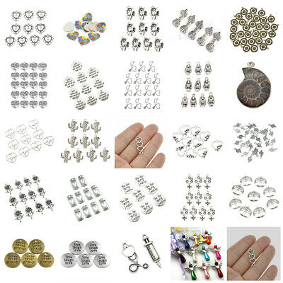 Mixed Alloy Silver Heart Jewelry Finding Charms Pendant DIY Jewelry Making Craft