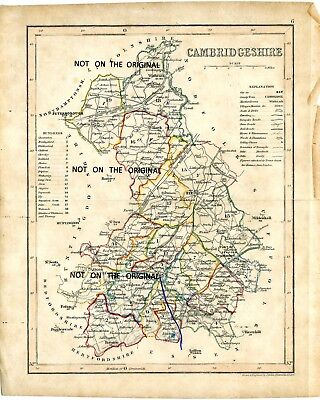 Old Map Of Cambridgeshire By J.archer