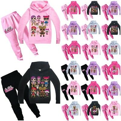 LOL Surprise Dolls Girls Hoodies Sweatshirt Jumper Tops Pants Costume Outfit UK
