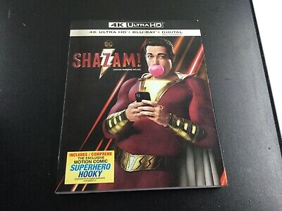 Shazam! 4K( 4K Ultra Hd +Blu-Ray +Digital ) Brand New Sealed