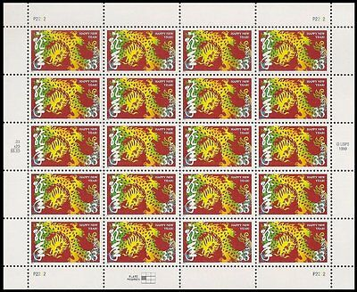 2000 YEAR OF THE DRAGON: Chinese Lunar Happy New Year Sheet 20 x 33¢ Stamps 3370