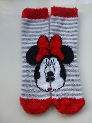 Minnie Mouse Girls Lovely Cosy Socks  Age 3-6 Years Disney  1 Pair Last One Xmas