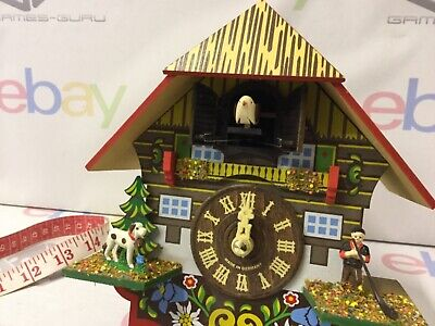 Vintage Wooden German Cuckoo Clock With Moveable Cuckoo Musical