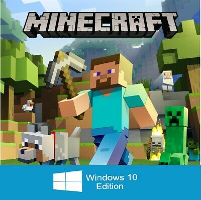 Minecraft: Windows 10 Edition PC CD KEY ONLY, NO BOX