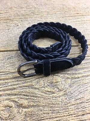 """Women's Black Rope Belt Buckle Waist For Dress 42 inches 42"""""""