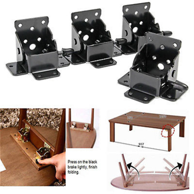 90° FOLDING TABLE Chair Leg Hinge Self Locking Furniture