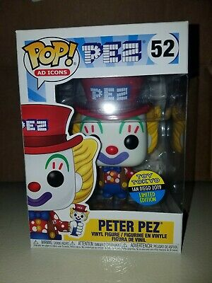 Funko Pop1 Ad Icons #52 PETER PEZ Toy Tokyo SDCC 2019 Exclusive + Protector