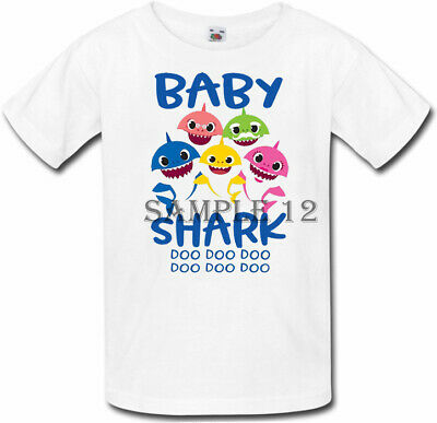Baby Shark doo doo T-Shirt, Baby, Brother, Sister, Cousin, Ages 1-6 Ref 01 - 12