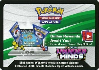 (SENT VIA EMAIL) 50x Sun And Moon Unified Minds Pokemon TCGO Online Code Cards