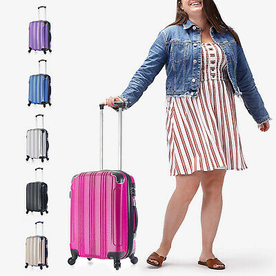 CARRY ON 22x14x9 Luggage 4 Wheels Rolling Spinner Lightweight 1,5 in Expandable