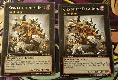 LTGY-EN056 3 x Yu-Gi-Oh Card - NM//Mint KING OF THE FERAL IMPS common