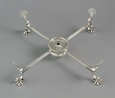 An Early George III Silver Dish Cross, London 1766 by Herbert & Co.