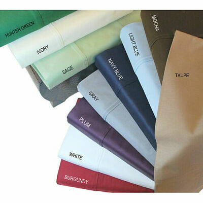 Extra Deep Wall 40 cm 1000 TC Egyptian Pure Cotton Fitted Sheets Queen/King Size