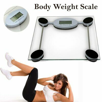 Digital Body Scale 180KG LCD Weight Scales Bathroom Gym Electronic Glass