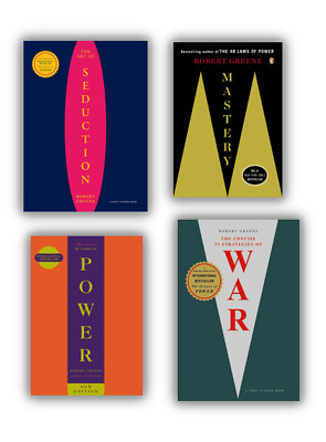 NEW Robert Greene 4 Books Set Concise 48 Laws of Power, War, Mastery, Seduction