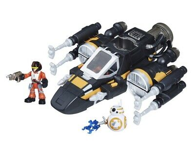 Star Wars Poe's Boosted X-Wing fighter Playskool Galactic Heroes Dameron BB-8
