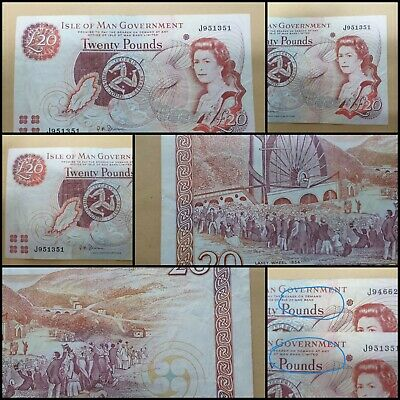 """Isle of Man £20 Banknote """"Anomaly"""" Prefix J with """"LIMITED"""" Printed J951351 Rare"""