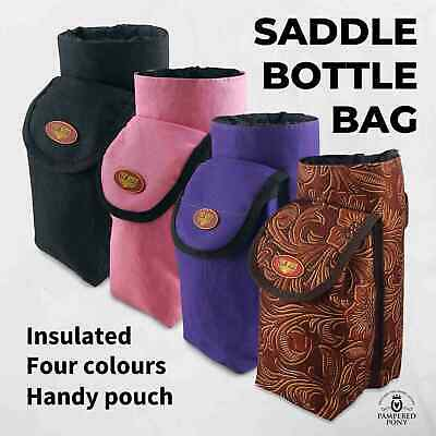 Saddle Bag Bottle Bag Trekking Horse Trail Riding Insulated Black Pink Purple