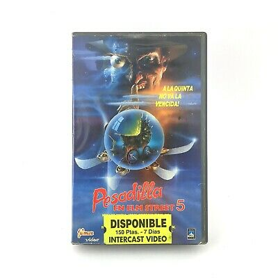 PESADILLA EN ELM STREET 5 Stephen Hopkins / THE DREAM CHILD / Robert Englund VHS