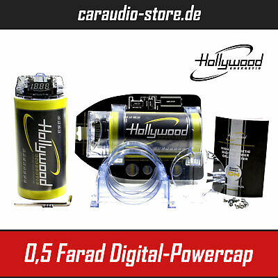 Hollywood HCM 05 - Powercap - Kondensator - 0,5 Farad - Car Hifi