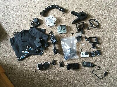 gopro hero 3 black edition With 30+ accessories Inc 2x Batteries & LCD Screen