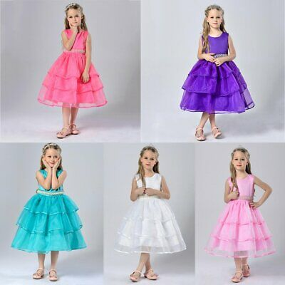 Princess Kids Baby Girls Dress  Fairytale Party Dresses Costume Clothes T2