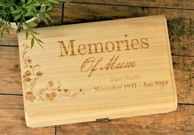 Remembrance Personalised Engraved Wooden Memory Box