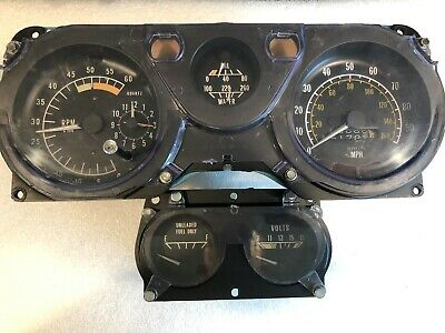TESTED 1979 Trans Am 100/6K Gauge Cluster Speedometer Oil Temp Water Fuel GOLD