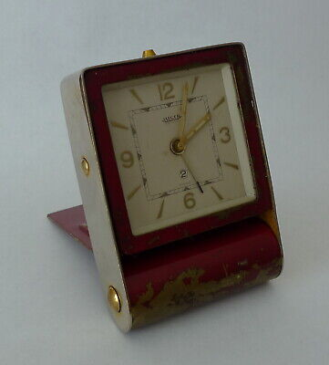 Ancien reveil Jaeger lecoultre HS Suisse vintage alarm clock for parts or repair