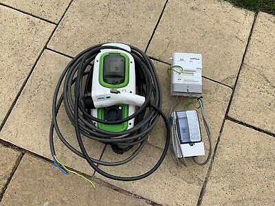 Rolec WallPod 16A Tethered EV Electric Vehicle Charge Point & Fuse Board & Meter