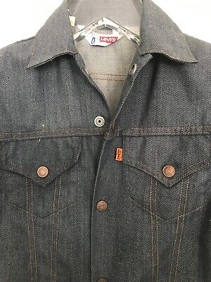 Vintage 1970's LEVI'S Lightweight Denim Jacket Orange Tab Kids sz 12