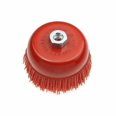 "100*M14 Cup Nylon Abrasive Brush Wheel P80 Pile Polymer-abrasive 4.5""Angle Grind"
