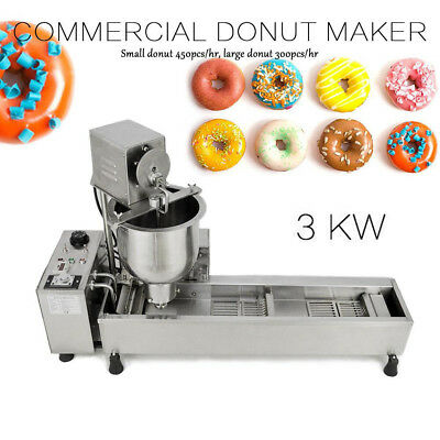 Commercial Automatic Donut Maker Machine & 3 free Stainless Steel Mold 3KW