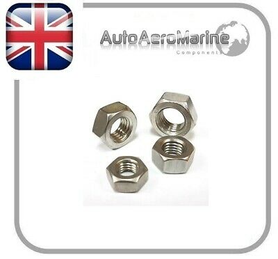 A4 316 Stainless Steel Marine Grade Full Nuts M5