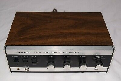 RADIO SHACK REALISTIC SA-350 Solid State Amplifier VTG 1970s 70s