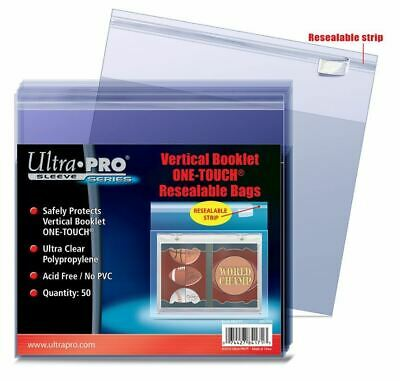 Ultra Pro Vertical Booklet One-Touch Resealable Bags Sleeves 50ct